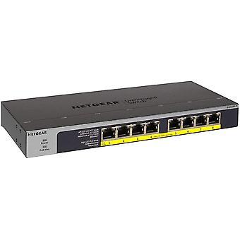 FengChun GS108LP 8-Port Gigabit Ethernet LAN PoE Switch Unmanaged (mit 8x PoE+ 60W erweiterbar,