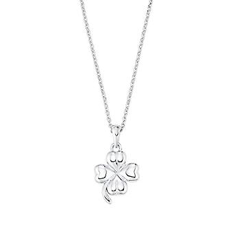 amor Necklace with women's pendant, in sterling silver 925, four-leaf clover