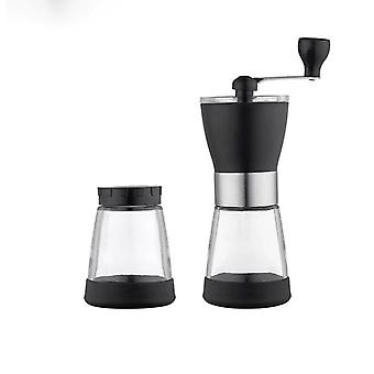 Manual Coffee Grinder Set Stainless Steel Glass
