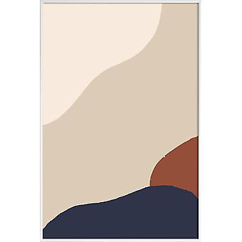 JUNIQE Print - Movement 4 - Posters abstraits & géométriques en marron & blanc crème