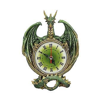 Nemesis Now Emerald Chronology Green Dragon Wall Clock