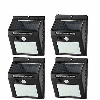 4 Pcs 20 led outdoor waterproof solar-sensor/motion-sensor wall light az4787