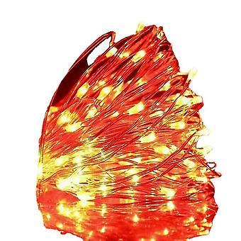 Usb 3m 30 يؤدي الأحمر USB قاد أضواء سلسلة 10m 5m 3m 2m، الفضة سلك ضوء خرافية للماء az16826