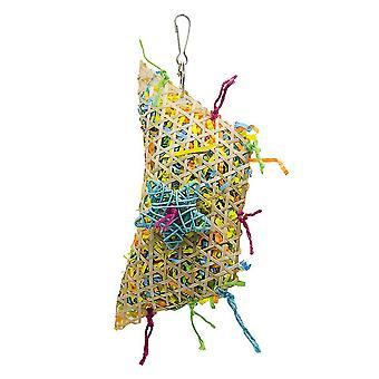 Vogel Papagei Stroh Seil Bambus geflochten Papagei Biss Spielzeug