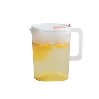 Airtight Pitcher Plastic Water Pitcher Decanter Jug Serve Drink Pitcher(Orange)