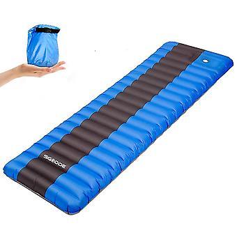 Elastic Sponge Outdoor Camping Inflatable Sleeping Pad Ultralight Air Mat Matelas Randonnée Inflatab
