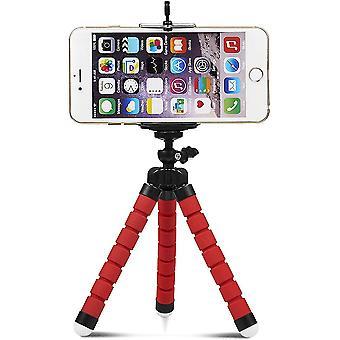 Telefon Stativ, tragbarer und verstellbarer Stativständer, Kamerastativ (rot)
