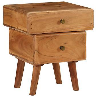vidaXL table de chevet acacia massif 40 x 35 x 49 cm