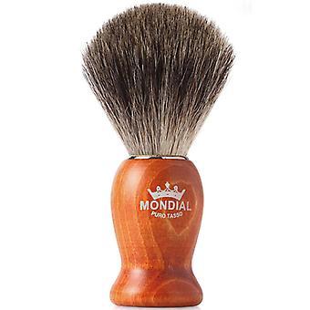 Lidar com Mondial 1908 texugo puro barbear escova madeira