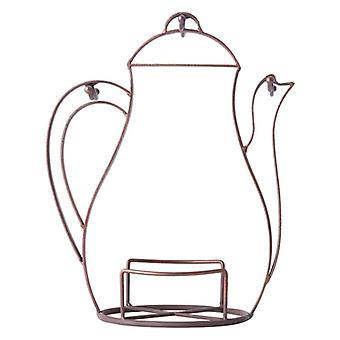 Kettle Shaped Coffee Mug Rack,Plates Holder,Vintage Metal Wire Tree Stand,Kitchen Hanging Storage