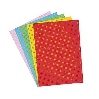 10 Coloured Embroidery Cross Stitch Boards in 5 Colours for Adults Crafts