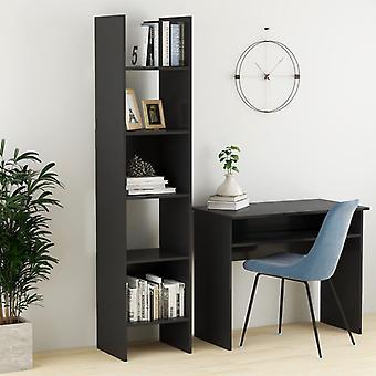 vidaXL bibliothèque gris 40x35x180 cm panneau de particules