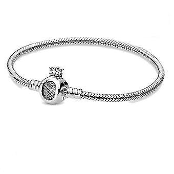 Sterling Silver Pan Charm Chain Bracelet(21cm)