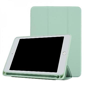 Ipad2019 10.2 Case With Pencil Holder, Protective Cover With Soft Tpu(Green)