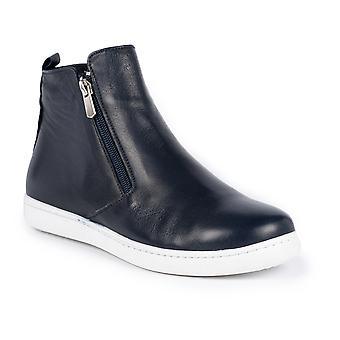Lunar Jayde Navy Leather Ankle Boot