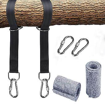 Tree Swing Straps Hanging Kit With Two Zinc Alloy Carabiners