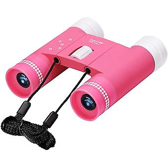 Mini Binoculars, Compact Binoculars for Children Adults, 10x25 Small Binoculars for Bird Watching Concerts Sports Hiking Camping,(pink)