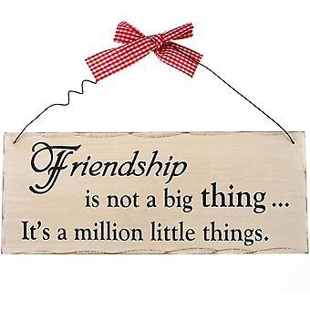 Freundschaft ist keine große Sache hängendes Zeichen