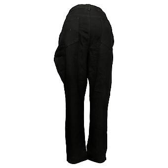 DG2 By Diane Gilman Damen Jeans Plus Stretch Jegging Black 535579