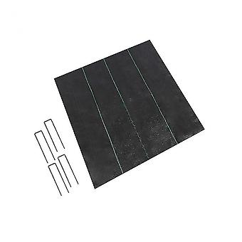 Plant herb growing kits pp weeding cloth black moisturizing and breathable pp weeding cloth with 4 pegs