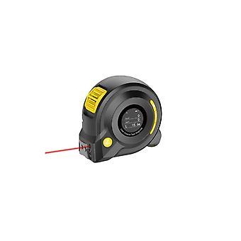 3 Em 1 medidor de distância de fita recarregável em tempo real Dada 40m Laser Rangefinder 5m Fita Lcd Medição Radian Digital