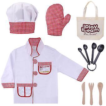 أزياء الشيف كوسبلاي للأطفال، ملابس المطبخ، هدايا عيد الميلاد للأطفال 3 و 4 و 5 و 6 سنوات من العمر الفتيان والفتيات