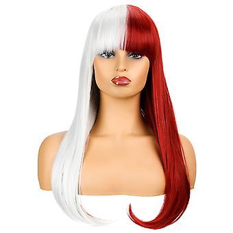 Brand Mall peruukit, pitsi peruukit, realistinen pörröinen pitkät hiukset suorat hiukset sekaväri peruukit