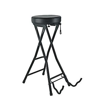 Rugged Folding Seat Guitar Stand Foot Pedals