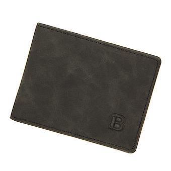 Vintage Men's Pu Leather Bifold Short Wallet Coin Change Pocket Purse Id Credit Card Holder