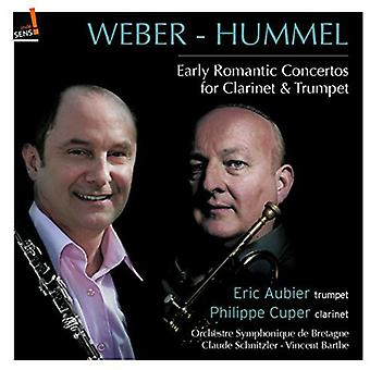 Weber / Hummel / Cuper / Aubier / Schnitzler - Early Romantic Cons for Calrinet & Trumpet [CD] USA import