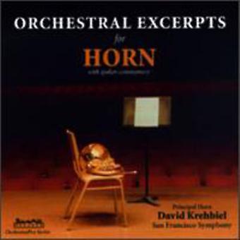 David Krehbiel - Orchestral utdrag för Horn [CD] USA import