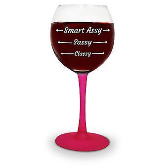 Copa de vino elegante montaje del vidrio broma artículos 414 ml