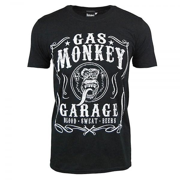 Garage gaz singe Garage gaz Mens singe sang sueur & bières T Shirt noir