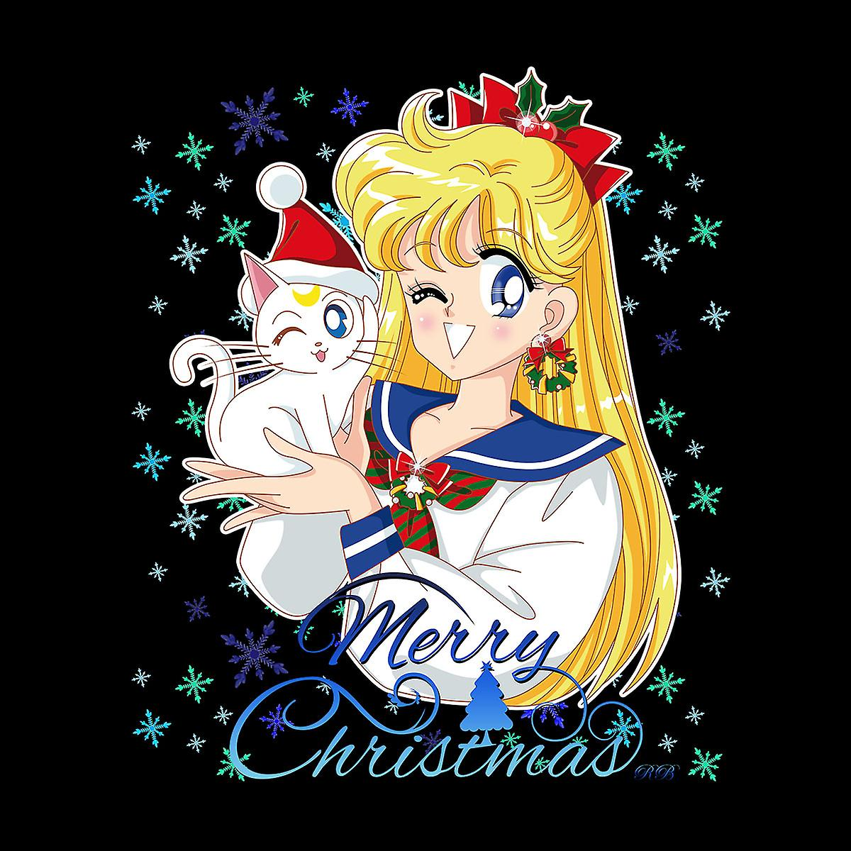 Feliz Navidad Minako Sailor Venus Luna Artemis Varsity chaqueta de