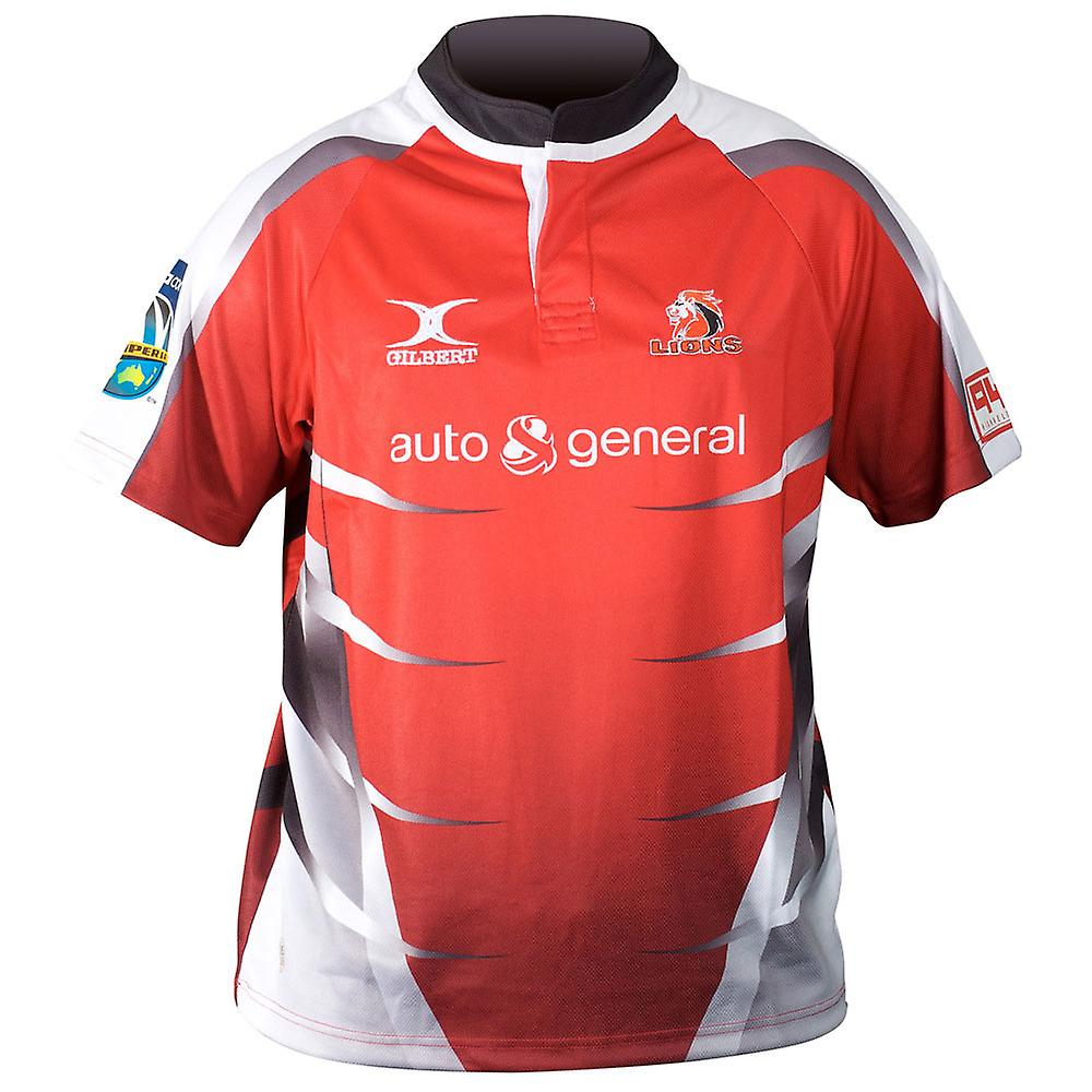 GILBERT Lions Home SupeRugby Rugby Shirt [red] RRP ?65!