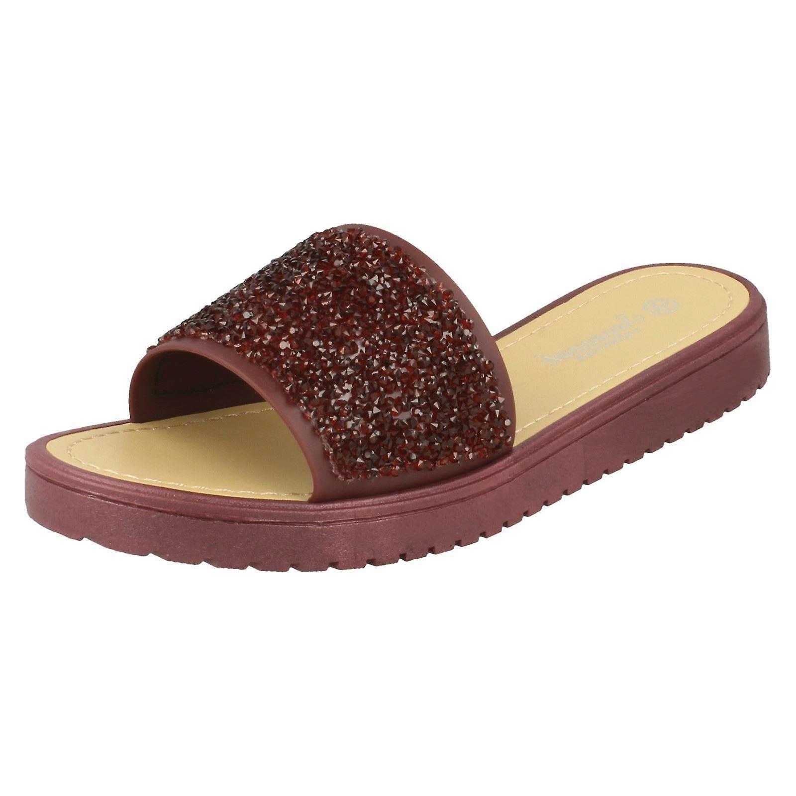 Sandały damskie Open Toe Glitter przednie S0Quz