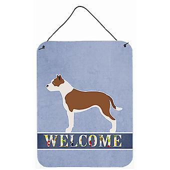 Pit Bull Terrier Welcome Wall or Door Hanging Prints