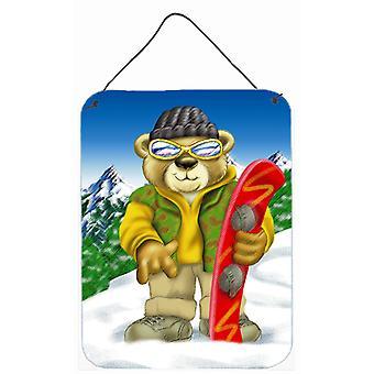 Teddy Bear snowboard parete o porta appeso stampe