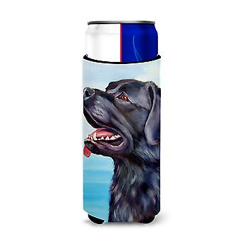Sort Labrador Retriever Michelob Ultra drik isolator for slim dåser
