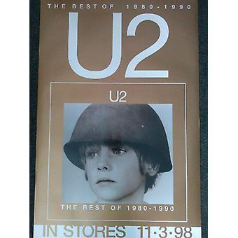 U2 Best Of 1980-1990 Version 2 Poster