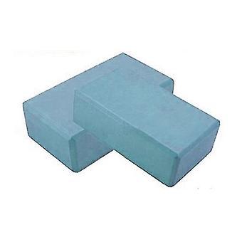 "Kabalo blå 2 x Yoga & Pilates EVA Foam Block / tegel! Stretch stöd motion Gym 3 ""x 6"" x 9 """