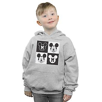 Disney Boys Mickey Mouse Smiling Squares Hoodie