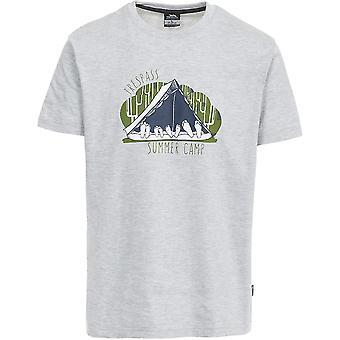 Hausfriedensbruch Mens Camp Kurzarm Casual Sports T-Shirt mit Print