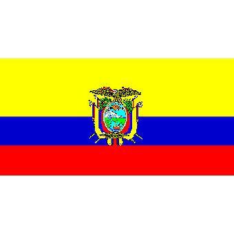 Ecuadorin lippu 5 jalkaa x 3 ft jossa ripustamista varten