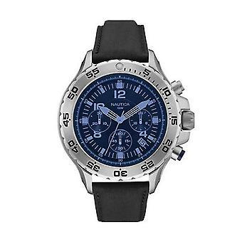 Nautica men's watch Chrono NAI19536G wristwatch leather