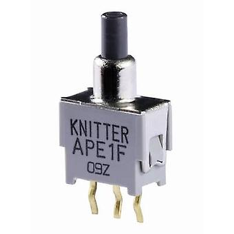 Knitter-Switch APE 1F Pushbutton 48 V DC/AC 0.05 A 1 x On/(On) momentary 1 pc(s)