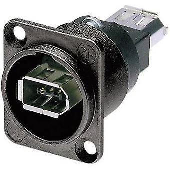 Neutrik NA1394-6-B-W NA1394-6-B-W IEEE 1394 montado soquete 6 soquete IEEE, built-in preto