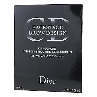 Christian Dior Backstage Front Design Brow façonnage pochoirs Kit 0,08 oz neuf dans la boîte