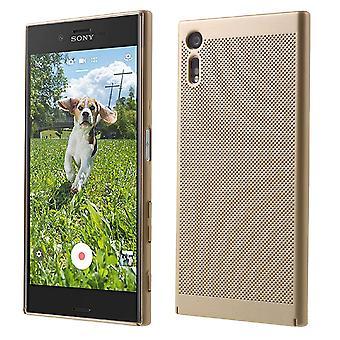 Cell phone case för Sony Xperia XA1 ärm case väska cover case guld