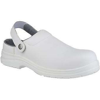 Amblers Safety Mens FS512 White Clog Waterproof Safety Shoes White